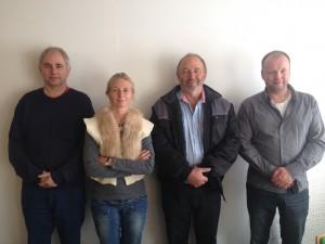 Hans Jørgen Mortensen Bjarne Hansen(substitut), Melanie Tylvad, Albert Nielsen, Magni Jøkladal